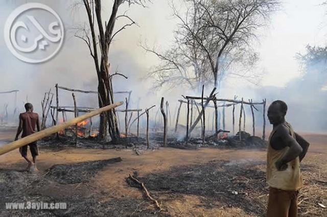 النيل الازرق بين الالغام البشرية وحريق القرى