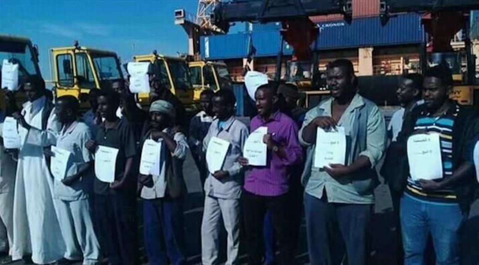 اعتصام عمال ميناء رئيسية شرقي السودان يدخل يومه الثاني