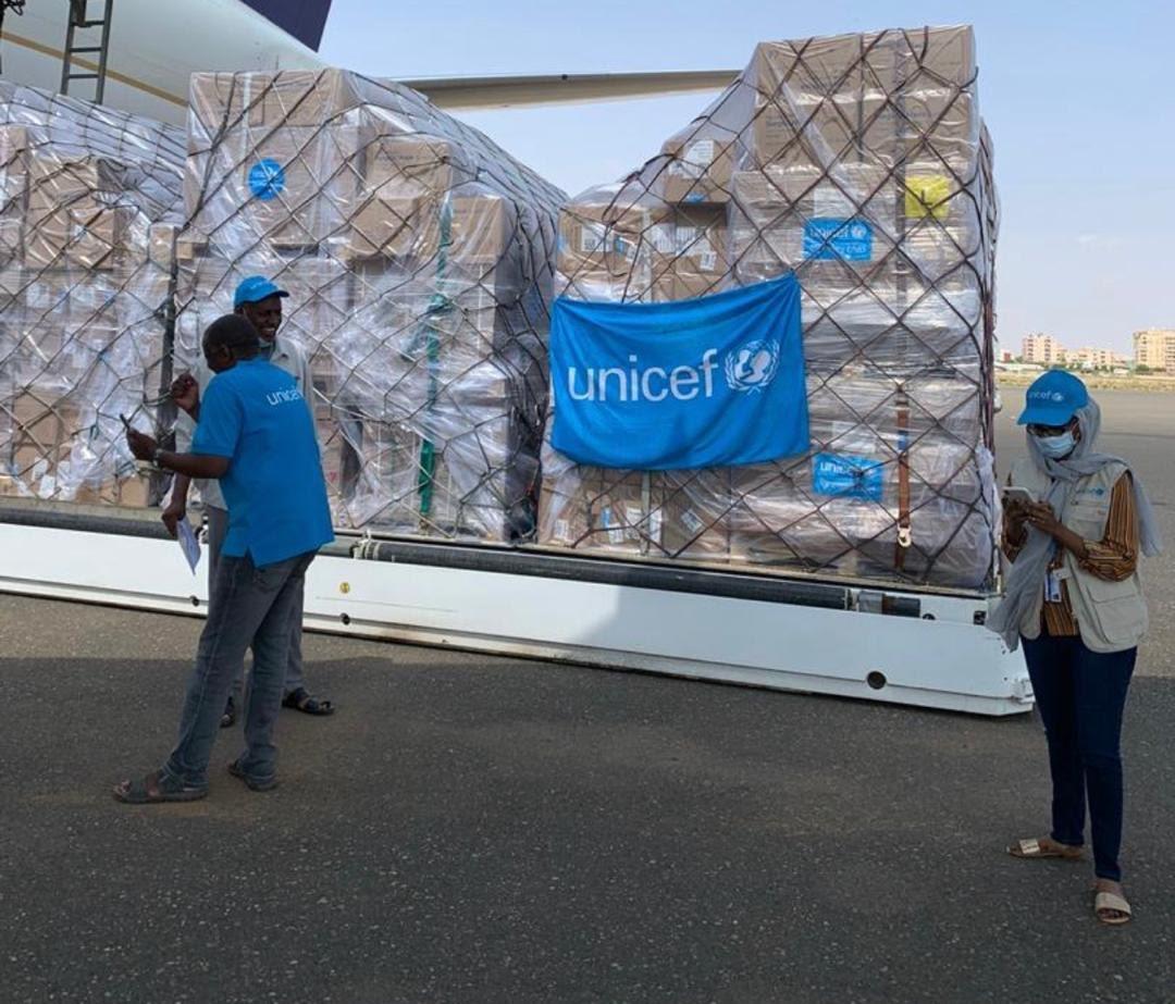 """""""يونيسف"""" تنقل أكبر شحنة لمساعدة السودان في احتواء تفشي """"كورونا"""""""