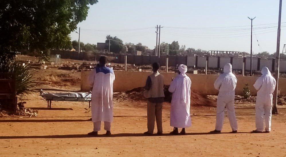 عملية دفن جرت صباح اليوم الاثنين بمدينة ودمدني في ولاية الجزيرة اليوم الاثنين 4 يناير 2020