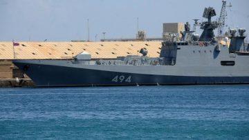 Russian Navy frigate RFS Admiral Grigorovich in Port Sudan