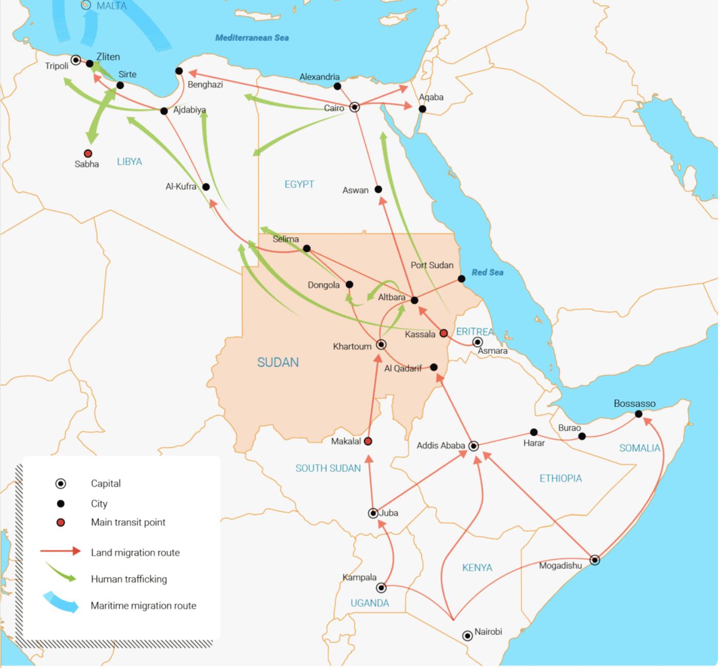 نصف مليون مهاجر يطرقون أبواب أوروبا عبر السودان